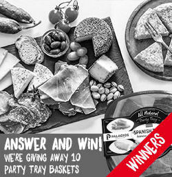 We're giving away 10 party tray baskets for chorizo lovers!