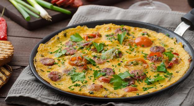 Spanish omelette chorizo