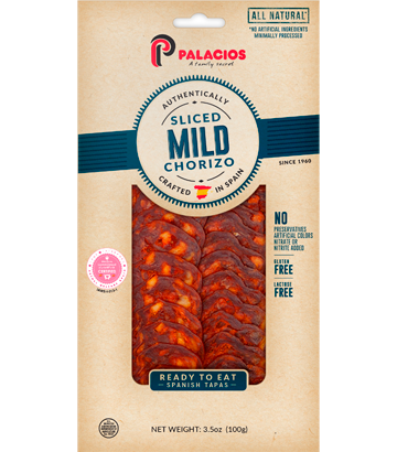 Sliced Chorizo Mild 3.5oz