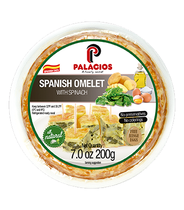Spanish omelette with spinach 7oz