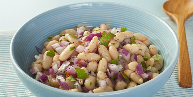 White bean and cod salad