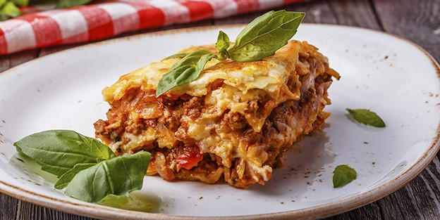 Meat and chorizo lasagna