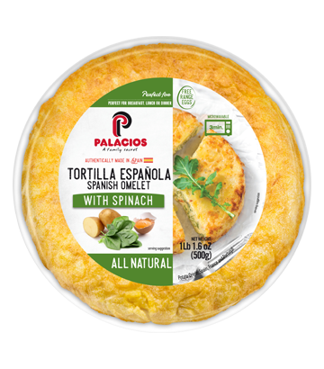 Spanish Omelet with Spinach. Cage Free 1lb 1,6oz
