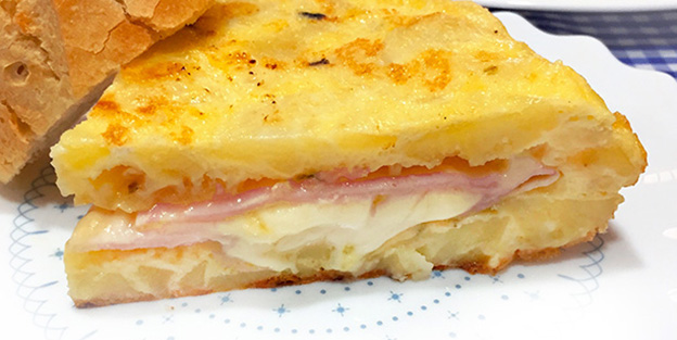 Palacios Omelet Stuffed With Ham And Cheese